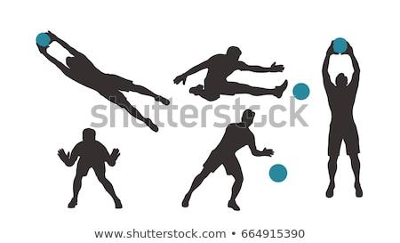 Vector portero acción pelota fondo Foto stock © Morphart