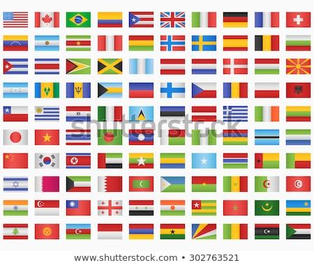 ludzi · banderą · Paragwaj · odizolowany · biały · tłum - zdjęcia stock © istanbul2009