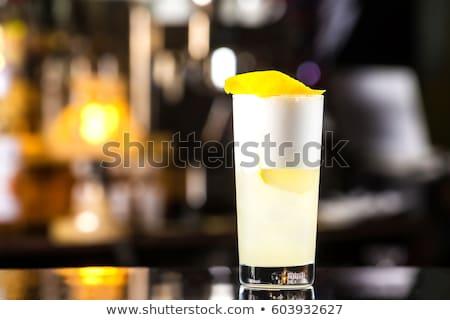 cóctel · aislado · blanco · agua · fiesta - foto stock © netkov1