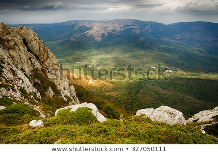 Cloudy day in the mountains Stock photo © Kotenko