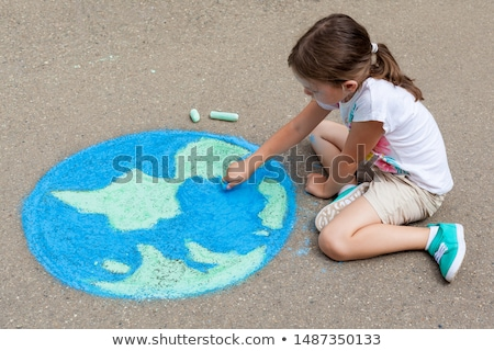 girl and the globe outdoor stock photo © paha_l