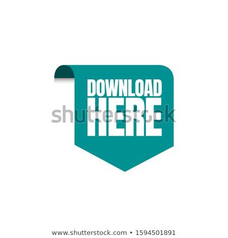 téléchargement · vert · vecteur · icône · design · numérique - photo stock © rizwanali3d