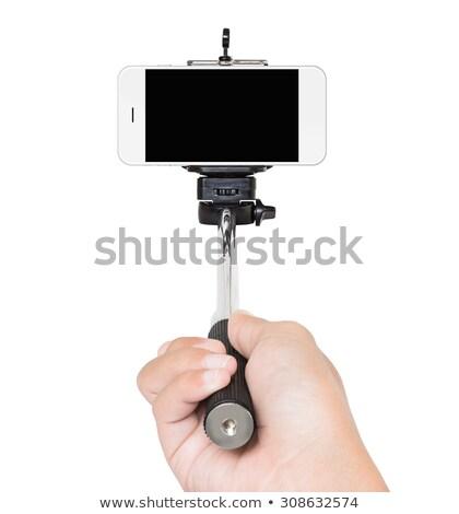 Smartphone stick shot studio Stockfoto © wavebreak_media