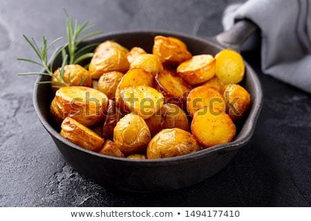 gebakken · zure · room · aardappel · voorjaar · ui - stockfoto © digifoodstock