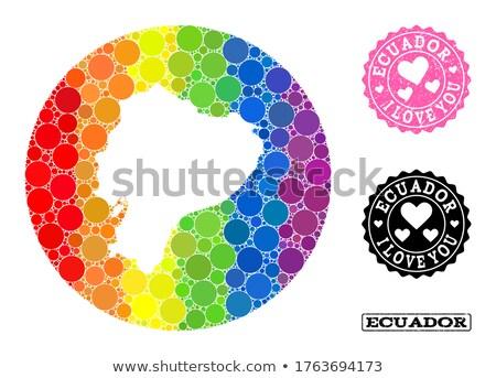 Ecuador homo kaart land trots vlag Stockfoto © tony4urban