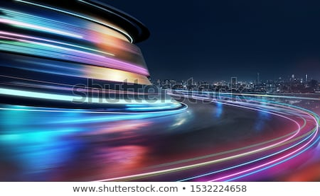 Stock photo: road in motion