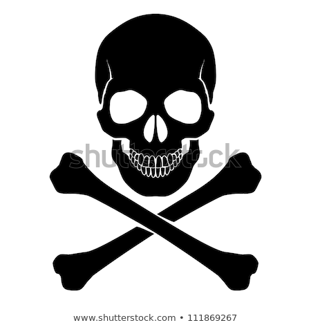 Stock photo: Skull and crossbones - a mark of the danger  warning