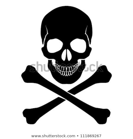 skull and crossbones   a mark of the danger warning stock photo © rommeo79