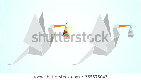 origami stork stock photo © cienpies