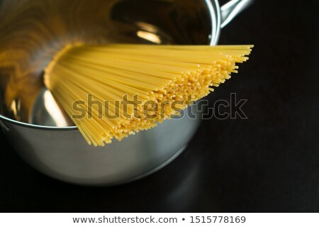 Stock photo: pot with spaghetti