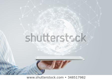 Emberi földgömb kapcsolat kapcsolatok hálózat terv Stock fotó © djemphoto