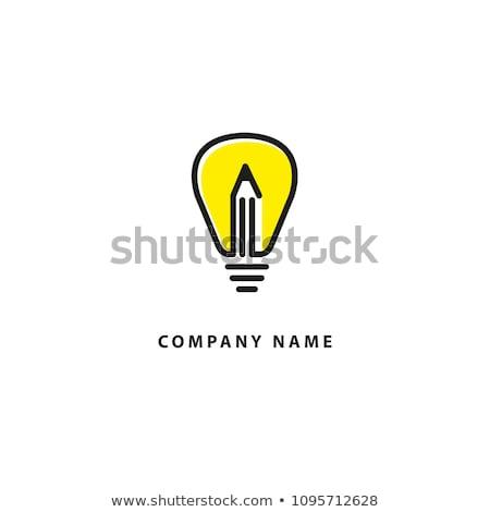 Yaratıcı kalem ampul ikon soyut logo Stok fotoğraf © chatchai5172