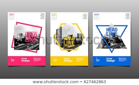 брошюра книга Flyer дизайн шаблона синий современных Сток-фото © orson