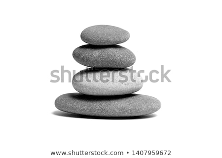 stone piles stacked on the beach Stock photo © compuinfoto