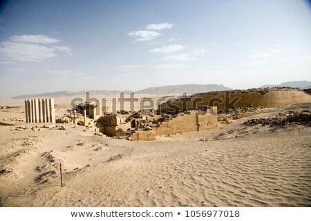 Edad ruina Yemen horizonte Foto stock © meinzahn