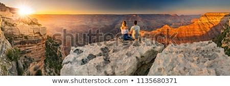 グランドキャニオン · 日の出 · 川 · コロラド州 · 山 · 青 - ストックフォト © meinzahn