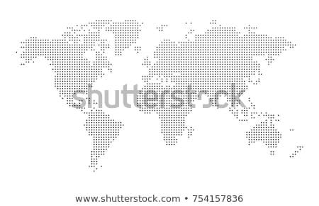 Punteggiata mappa del mondo isolato bianco mondo mappa Foto d'archivio © blumer1979