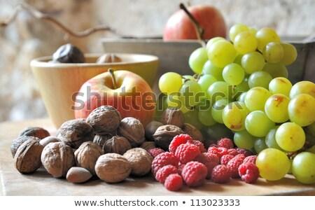 Stockfoto: Vers · fruit · noten · variëteit · voedsel · zomer · leven