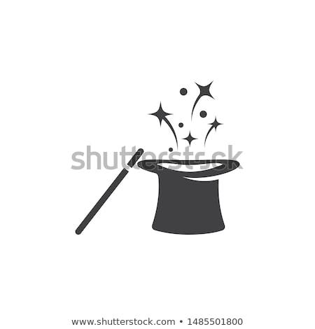 Illuzionista mágikus kalap pop art retró stílus cirkusz Stock fotó © studiostoks