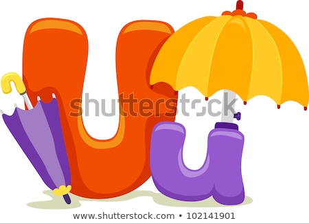 Letter U for umbrella Stock photo © bluering