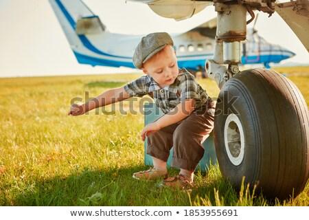pequeno · avião · dia · voador · aeronave · blue · sky - foto stock © dashapetrenko