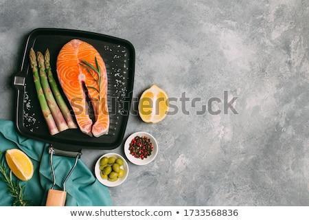 pan fried salmon stock photo © digifoodstock