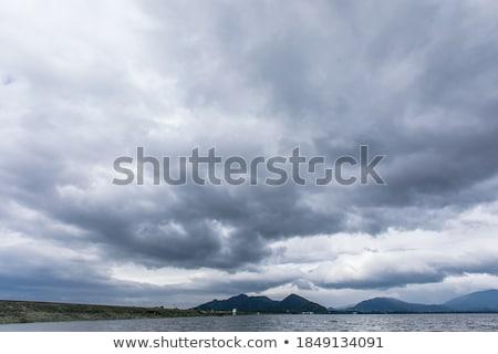 自然 シーン 暗い 空 火山 実例 ストックフォト © bluering