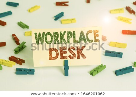 we can word and office tools on wooden table stock photo © fuzzbones0