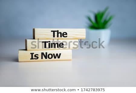 Tijd actie woord school boord klok Stockfoto © fuzzbones0