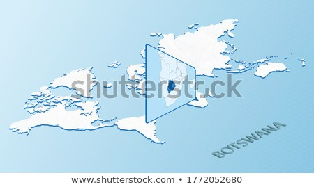 isometric map of botswana detailed vector illustration stock photo © tkacchuk