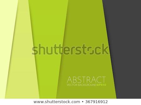 green overlap layer paper material design stock photo © punsayaporn