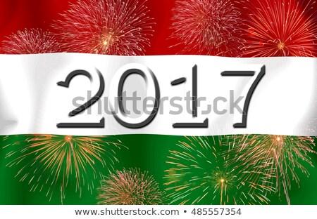флаг Венгрия старой бумаги бумаги дизайна фон Сток-фото © IMaster