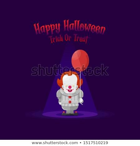 scary · zło · clown · duży · nóż - zdjęcia stock © nito
