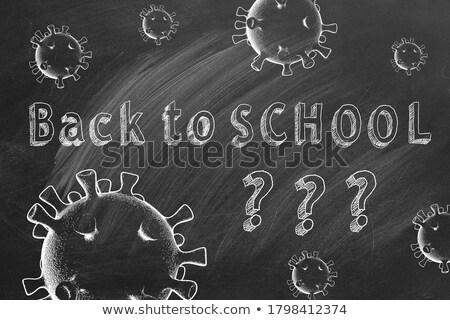 Questions text on school board Stock photo © fuzzbones0