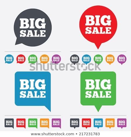 Grande venta etiqueta negro blanco rojo Foto stock © sdmix