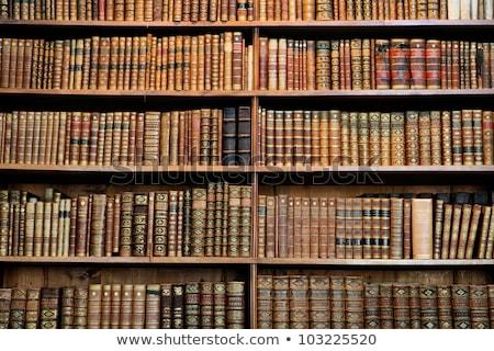 Historic Old Books In Library Zdjęcia stock © jorisvo