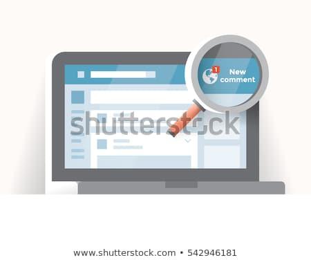 Facebook icône loupe ordinateur clé internet Photo stock © goir