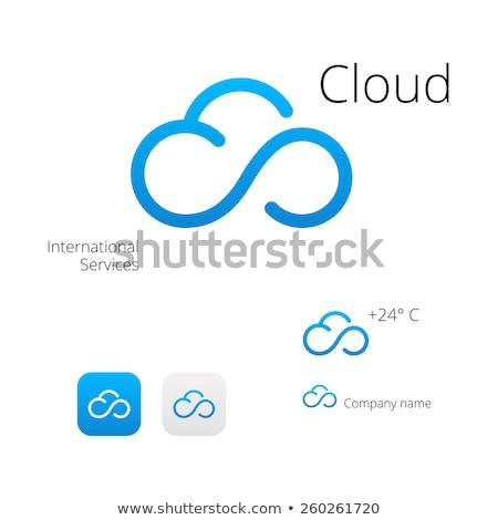 Nuvem logotipo modelo tecnologia vetor projeto Foto stock © Ggs