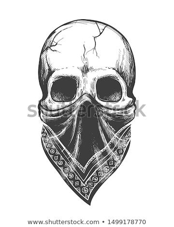 Gangster in bandana vector illustration clip-art image stock photo © vectorworks51