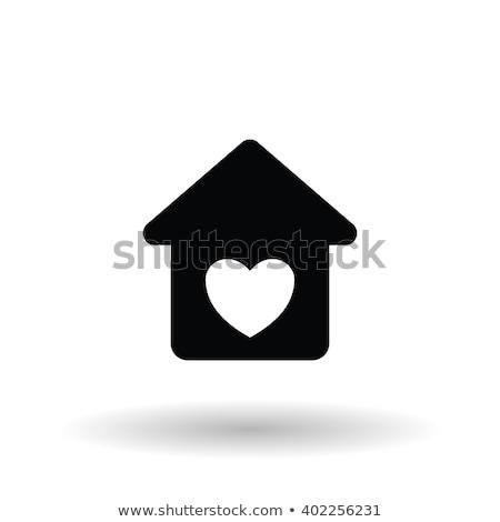 Luxe huis clipart afbeelding home achtergrond Stockfoto © vectorworks51