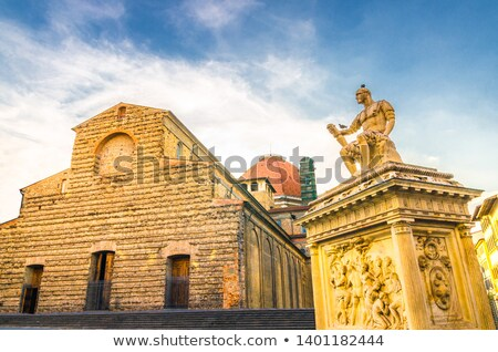 Monument of Giovanni delle Bande Nere in Florence Stock photo © boggy