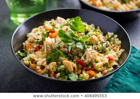 Kip gerst restaurant borst diner vlees Stockfoto © M-studio