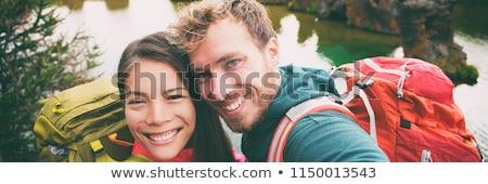 Cropped interracial couple Stock photo © deandrobot
