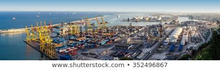Industrial porta Barcelona Espanha transporte global de negócios Foto stock © frimufilms