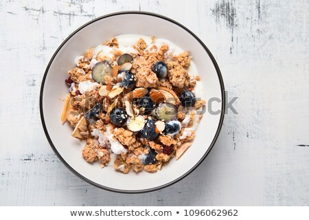Müsli yemek sağlıklı tahıl sabah Stok fotoğraf © M-studio