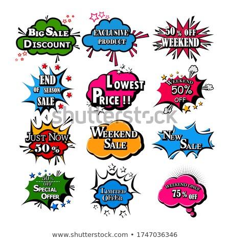 продажи скидка ваучер дизайна чате пузырь стиль Сток-фото © SArts