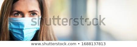 portret · jonge · vrouw · lang · neus · masker · profiel - stockfoto © RazvanPhotography