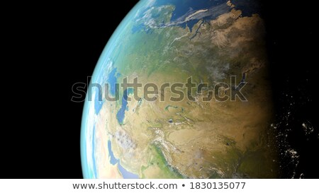Asia przestrzeni 3d ilustracji Internetu świecie ocean Zdjęcia stock © Hermione