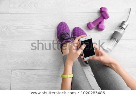 рук · молодые · подготовки · фитнес · инструктор - Сток-фото © deandrobot