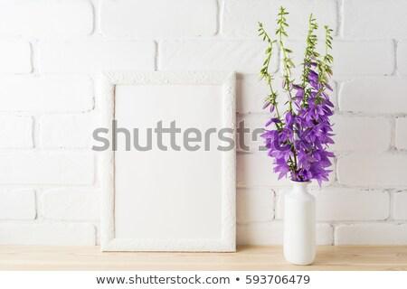 白 · フレーム · 花束 - ストックフォト © tasipas